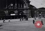 Image of Frankfurt Central Station one year after World War 2 Frankfurt Germany, 1946, second 16 stock footage video 65675040670