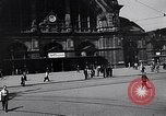 Image of Frankfurt Central Station one year after World War 2 Frankfurt Germany, 1946, second 17 stock footage video 65675040670