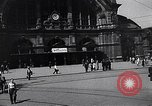 Image of Frankfurt Central Station one year after World War 2 Frankfurt Germany, 1946, second 18 stock footage video 65675040670