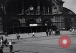 Image of Frankfurt Central Station one year after World War 2 Frankfurt Germany, 1946, second 19 stock footage video 65675040670
