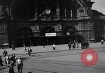 Image of Frankfurt Central Station one year after World War 2 Frankfurt Germany, 1946, second 20 stock footage video 65675040670