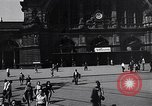 Image of Frankfurt Central Station one year after World War 2 Frankfurt Germany, 1946, second 24 stock footage video 65675040670