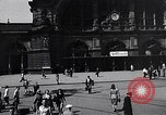 Image of Frankfurt Central Station one year after World War 2 Frankfurt Germany, 1946, second 25 stock footage video 65675040670