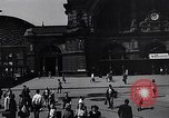 Image of Frankfurt Central Station one year after World War 2 Frankfurt Germany, 1946, second 30 stock footage video 65675040670