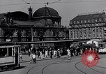 Image of Frankfurt Central Station one year after World War 2 Frankfurt Germany, 1946, second 32 stock footage video 65675040670