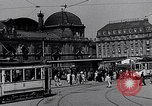Image of Frankfurt Central Station one year after World War 2 Frankfurt Germany, 1946, second 33 stock footage video 65675040670