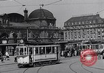 Image of Frankfurt Central Station one year after World War 2 Frankfurt Germany, 1946, second 35 stock footage video 65675040670