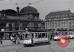 Image of Frankfurt Central Station one year after World War 2 Frankfurt Germany, 1946, second 36 stock footage video 65675040670