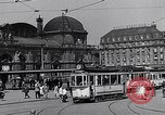 Image of Frankfurt Central Station one year after World War 2 Frankfurt Germany, 1946, second 37 stock footage video 65675040670