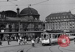 Image of Frankfurt Central Station one year after World War 2 Frankfurt Germany, 1946, second 38 stock footage video 65675040670