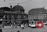Image of Frankfurt Central Station one year after World War 2 Frankfurt Germany, 1946, second 39 stock footage video 65675040670