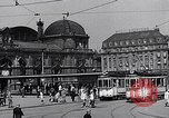Image of Frankfurt Central Station one year after World War 2 Frankfurt Germany, 1946, second 40 stock footage video 65675040670