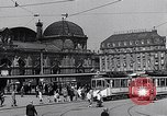 Image of Frankfurt Central Station one year after World War 2 Frankfurt Germany, 1946, second 41 stock footage video 65675040670