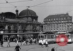 Image of Frankfurt Central Station one year after World War 2 Frankfurt Germany, 1946, second 42 stock footage video 65675040670
