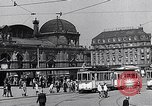 Image of Frankfurt Central Station one year after World War 2 Frankfurt Germany, 1946, second 43 stock footage video 65675040670