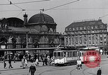 Image of Frankfurt Central Station one year after World War 2 Frankfurt Germany, 1946, second 44 stock footage video 65675040670