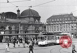 Image of Frankfurt Central Station one year after World War 2 Frankfurt Germany, 1946, second 46 stock footage video 65675040670