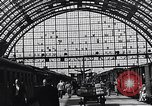 Image of Frankfurt Central Station one year after World War 2 Frankfurt Germany, 1946, second 56 stock footage video 65675040670