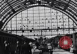 Image of Frankfurt Central Station one year after World War 2 Frankfurt Germany, 1946, second 57 stock footage video 65675040670