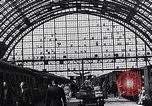 Image of Frankfurt Central Station one year after World War 2 Frankfurt Germany, 1946, second 58 stock footage video 65675040670