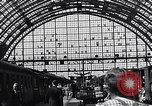 Image of Frankfurt Central Station one year after World War 2 Frankfurt Germany, 1946, second 59 stock footage video 65675040670