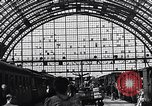 Image of Frankfurt Central Station one year after World War 2 Frankfurt Germany, 1946, second 61 stock footage video 65675040670