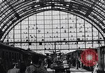 Image of Frankfurt Central Station one year after World War 2 Frankfurt Germany, 1946, second 62 stock footage video 65675040670