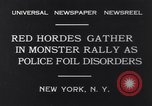 Image of Red Hordes New York United States USA, 1931, second 6 stock footage video 65675040714