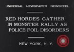 Image of Red Hordes New York United States USA, 1931, second 7 stock footage video 65675040714
