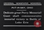 Image of Perry Memorial Put-In-Bay Ohio USA, 1931, second 3 stock footage video 65675040718