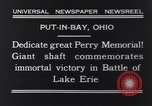 Image of Perry Memorial Put-In-Bay Ohio USA, 1931, second 4 stock footage video 65675040718