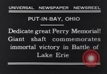 Image of Perry Memorial Put-In-Bay Ohio USA, 1931, second 5 stock footage video 65675040718