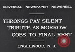 Image of Senator Dwight Morrow Funeral Procession Englewood New Jersey USA, 1931, second 1 stock footage video 65675040733