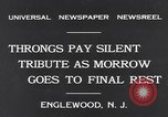 Image of Senator Dwight Morrow Funeral Procession Englewood New Jersey USA, 1931, second 3 stock footage video 65675040733