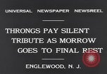 Image of Senator Dwight Morrow Funeral Procession Englewood New Jersey USA, 1931, second 9 stock footage video 65675040733