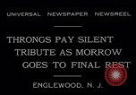 Image of Senator Dwight Morrow Funeral Procession Englewood New Jersey USA, 1931, second 10 stock footage video 65675040733
