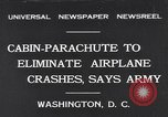 Image of Ten person aircraft cabin parachute Washington DC USA, 1931, second 1 stock footage video 65675040735