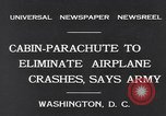 Image of Ten person aircraft cabin parachute Washington DC USA, 1931, second 2 stock footage video 65675040735