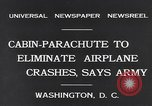 Image of Ten person aircraft cabin parachute Washington DC USA, 1931, second 4 stock footage video 65675040735