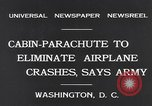 Image of Ten person aircraft cabin parachute Washington DC USA, 1931, second 6 stock footage video 65675040735