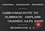 Image of Ten person aircraft cabin parachute Washington DC USA, 1931, second 9 stock footage video 65675040735