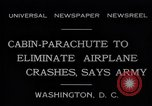 Image of Ten person aircraft cabin parachute Washington DC USA, 1931, second 10 stock footage video 65675040735