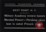Image of John Pershing New York United States USA, 1931, second 1 stock footage video 65675040744