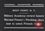 Image of John Pershing New York United States USA, 1931, second 3 stock footage video 65675040744