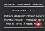 Image of John Pershing New York United States USA, 1931, second 4 stock footage video 65675040744