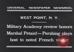 Image of John Pershing New York United States USA, 1931, second 6 stock footage video 65675040744