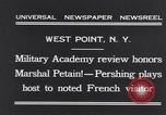 Image of John Pershing New York United States USA, 1931, second 7 stock footage video 65675040744