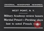 Image of John Pershing New York United States USA, 1931, second 9 stock footage video 65675040744