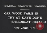 Image of Gar Wood New York United States USA, 1931, second 7 stock footage video 65675040746