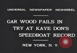 Image of Gar Wood New York United States USA, 1931, second 8 stock footage video 65675040746